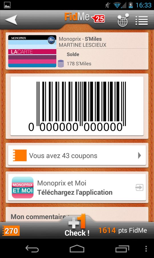 Application fidme carte de fid lit sur android - Carte de fidelite auchan fr ...