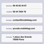 Mobiletag Vcard