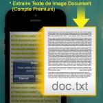 CamScanner extrait du texte sur pdf