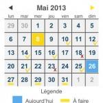Entraînement abdominaux calendrier