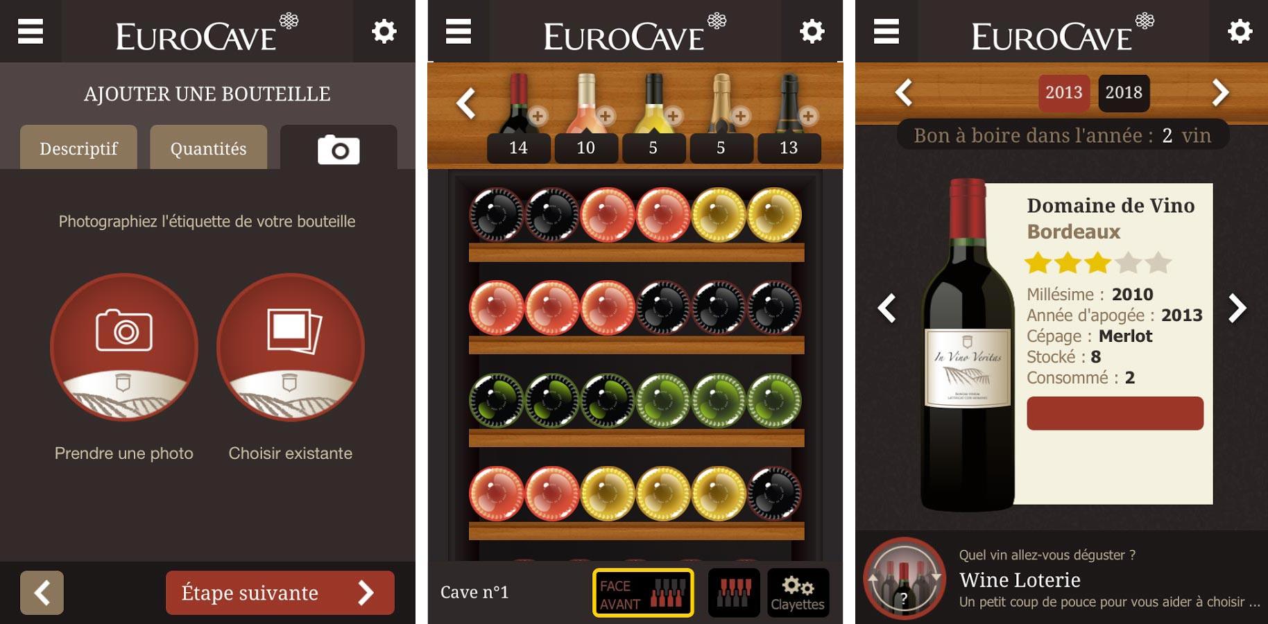 application gratuite android eurocave pour g rer sa cave vin. Black Bedroom Furniture Sets. Home Design Ideas