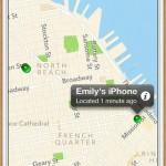 Localiser mon iPhone carte