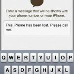 Localiser mon iPhone message