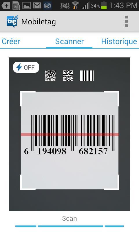 application mobiletag qr code pour lire des codes qr sur android. Black Bedroom Furniture Sets. Home Design Ideas