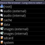 AndExplorer contenu explorer mobile